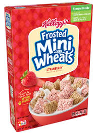 kellogg s frosted mini wheats strawberry cereal