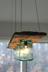mason jar light fixture driftwood and antique jar hanging light by mason jar chandelier for