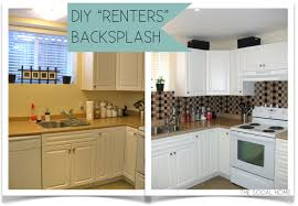 Sticky Tiles For Kitchen Floor The Social Home Diy Renters Backsplash With Vinyl Tile