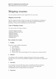 Shipping And Receiving Resume Examples 60 Shipping and Receiving Resume Objective Examples melvillehighschool 7