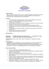 57 Inspirational Talent Acquisition Resume Sample Template Free