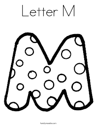 Small Picture Fresh Design M Coloring Pages Color The Letter M Coloring Page