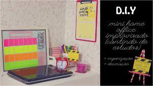 mini home office. diy mini home office improvisado cantinho de estudos organizao decorao youtube