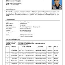 New Format Of Resume Sample Freshers Cv Format 244 Basic Resume Sample Format 244 Basic Resume 22