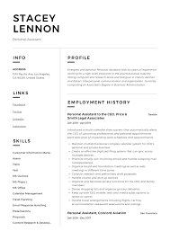 Virtual Resumes Personal Assistant Resume Writing Guide 12 Templates