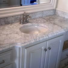 carrara marble bathroom countertop