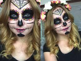 simple sugar skull makeup tutorial