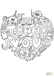 Thank You Teacher Doodle Coloring Page Free Printable Coloring Pages