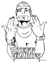 Small Picture Free Printable Jeff Hardy Coloring Page Famous People Coloring