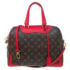 louis vuitton red leather and monogram canvas retiro nm bag nextprev prevnext