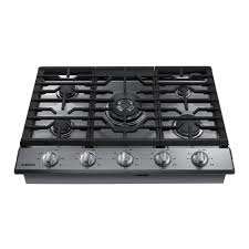 Gas Stainless Steel Cooktop Samsung 30 In Gas Cooktop In Stainless Steel With 5 Burners