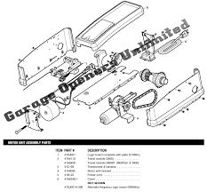 chamberlain garage door opener parts. Chamberlain Garage Door Opener Parts Diagram Engine Manual