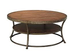 rustic round viable round storage coffee tables