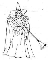 Small Picture Wicked Witch Wizard Of Oz Coloring Pages Pictures To Pin On Within