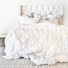 white ruffle bedding twin xl in nice ruffled bed next