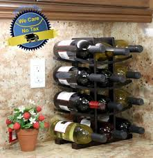 small wooden wine rack 12 bottle storage holder kitchen bar cabinet display home