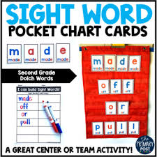 Dolch Second Grade Sight Word Pocket Chart Cards