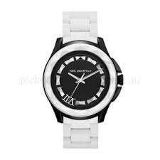 watches online shop cheap watches outlet 7 men s black white silicone bracelet karl lagerfeld watches