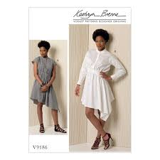 Vogue Patterns Dresses Gorgeous V48 Vogue Patterns Misses Stand Up Collar Diagonal Waist Detail
