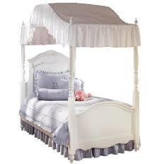 Amazon.com: Specialty Linens Twin Size Ruffled White Canopy Top 200 ...