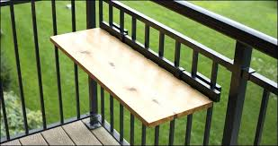 deck rail tables over the deck railing table deck railing table diy