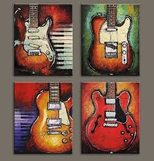 viivei wall art abstract guitar canvas red purple prints paintings home decor decal life pictures 4 on guitar canvas wall art red with amazon viivei wall art abstract guitar canvas red purple prints