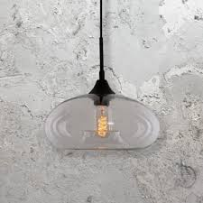 clear glass industrial pendant light