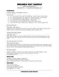 Pretentious Videographer Resume Template Stunning Samples Free
