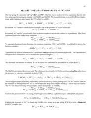 Qualitative Analysis Of Group Iii Cations Pages 1 3 Text