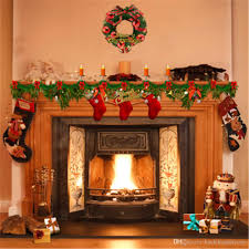 2018 indoor fireplace garland photography studio background printed candles gift stockings merry home party photo booth backdrop from