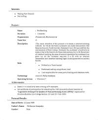 project project description template. curriculum vitae format for marketing  executive cv format sample