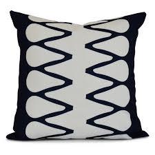 E By Design Pillows E By Design Upscale Getaway Zipped Decorative Pillow Navy