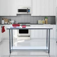 sportsman stainless steel kitchen utility table sswtable60 the home depot