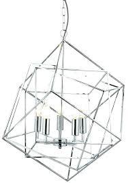 geometric pendant cube 5 light ceiling polished chrome small gold rose new g