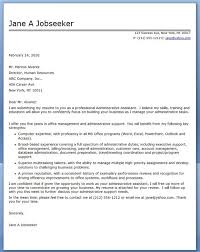 Assistant Cover Letter Sample Financial Administrative Assistant Cover Letter Sample Bfcc