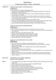 Customer Service Manager Resume Sample Customer Service Assistant Manager Resume Samples Velvet Jobs 61