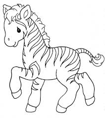 Small Picture Sweet Little Zebra Coloring Page Download Print Online
