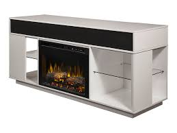 audio flex lex electric fireplace tv stand in white