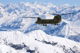 u s department of defense photo essay a ch 47 chinook helicopter flies along the alaska range on its way to kahiltna