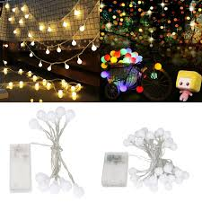 Led Round Ball Christmas Lights Details About Led String Fairy Lights 1m 2m 3m Xmas Round Ball Bulb Wedding Party Lamp Ss885