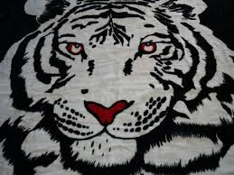 bedspreads throw rugs blankets elements designer mink blanket single white tiger 160 cm x 220 cm black special new