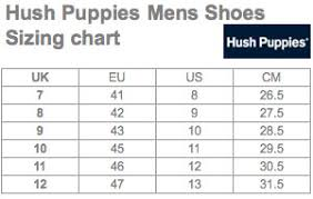 Mens Sandal Size Chart Hush Puppies Mens Shoes Size Chart Hush Puppy Sandals