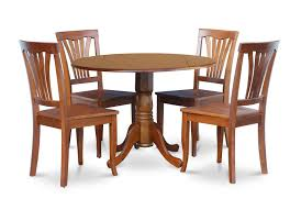 Dublin 5 Pieces Small Kitchen Table Set Round Table 4