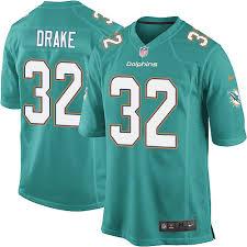 Game Miami 32 Green Kenyan Men's Dolphins Drake Aqua Jersey Home3330038 Football
