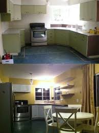 Kitchen Cabinet Budget Beauteous 48's Kitchen Redo On A Budget Spray Painted Metal Cabinets