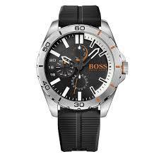 hugo boss orange berlin 1513290 black multifunctional rubber watch hugo boss orange 1513290 berlin silver black multi function rubber men s watch