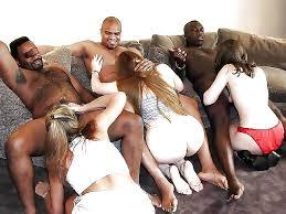 Thick white girl bbc orgy