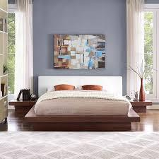 Freja 3 Piece Queen Vinyl Bedroom Set | Contemporary & Modern ...