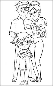 Free Boss Baby Coloring Pages Color Zini