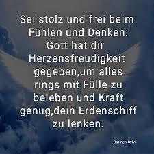 ᐅ Sei Stolz Und Frei Beim Fühlen Und Denken Gott Hat Dir